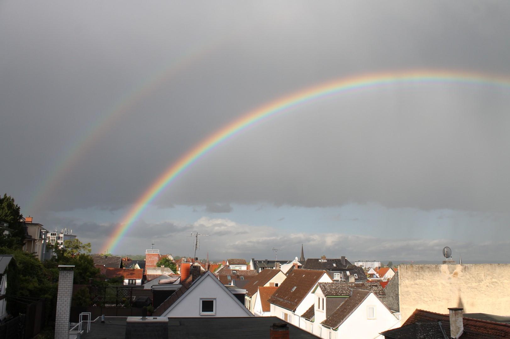 Regenbogen über Bad Nauheim