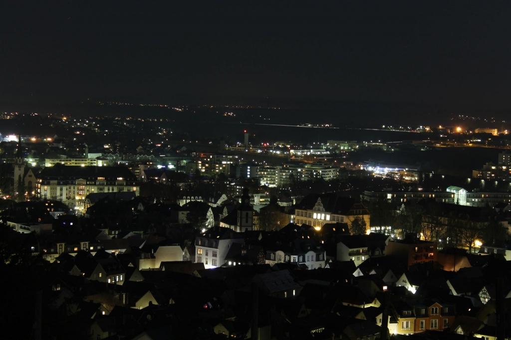 Nacht über Bad Nauheim